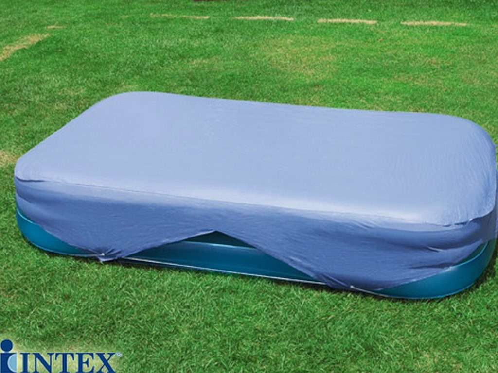 couverture de protection intex cover 305 x 183cm pour piscine hors sol rectangulaire sur. Black Bedroom Furniture Sets. Home Design Ideas