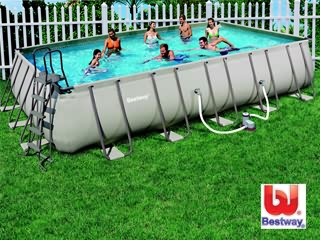 Kit Piscine Hors Sol Tubulaire Bestway STEEL ULTRA FRAME Rectangulaire 7,32  X 3