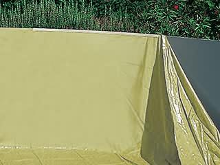 liner uni sable overlap dreampool 30 100eme piscine hors. Black Bedroom Furniture Sets. Home Design Ideas