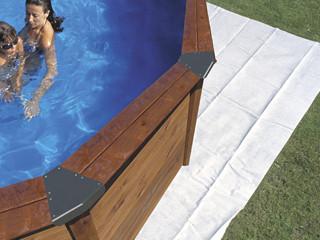 tapis de sol feutrine dreampool piscine hors sol ovale 5 0 x 3 0m sur march. Black Bedroom Furniture Sets. Home Design Ideas