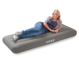 Intex - Matelas gonflable Intex ROLL'N GO dimensions 191 x 76 x 18cm