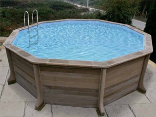 Kit piscine b ton naturalis decagonale x for Piscine en kit beton
