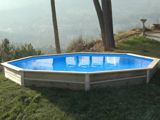 kit piscine bois water clip baby octogonale 428 x 40cm sur march. Black Bedroom Furniture Sets. Home Design Ideas