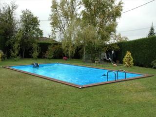 Kit piscine bois water clip platinum rectangulaire 988 x for Piscine x water