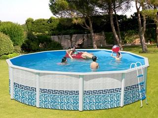 Kit piscine hors sol acier toi mosaico ronde x for Piscine hors sol profondeur 1 60