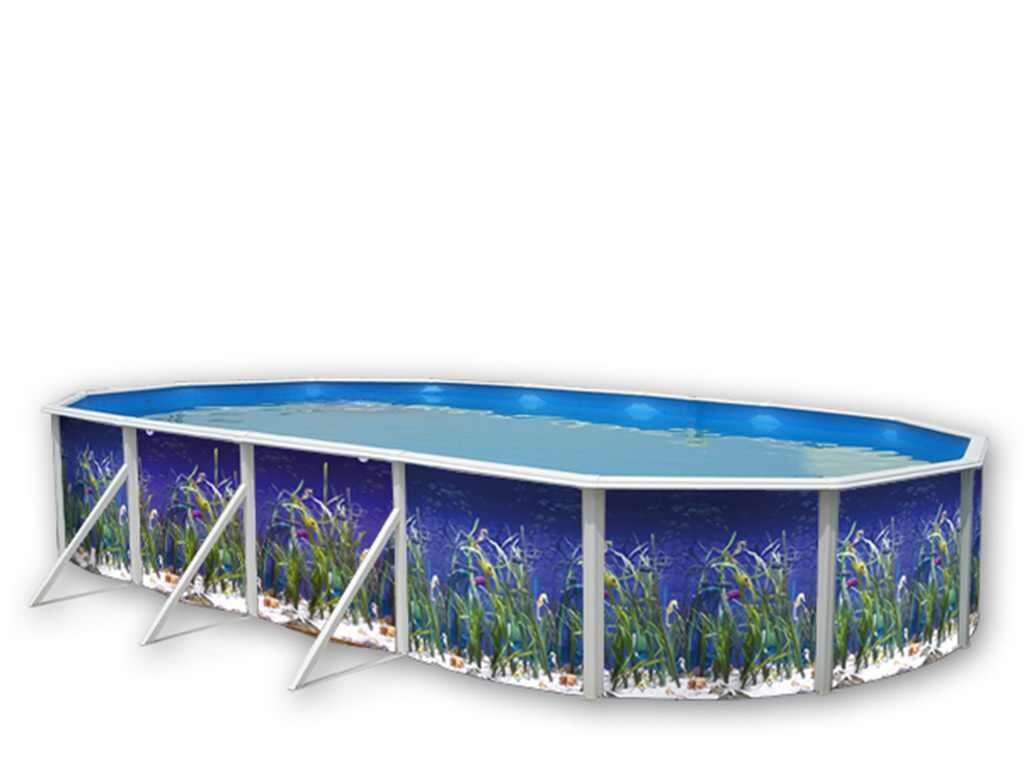 kit piscine hors sol acier toi oceano ovale x x
