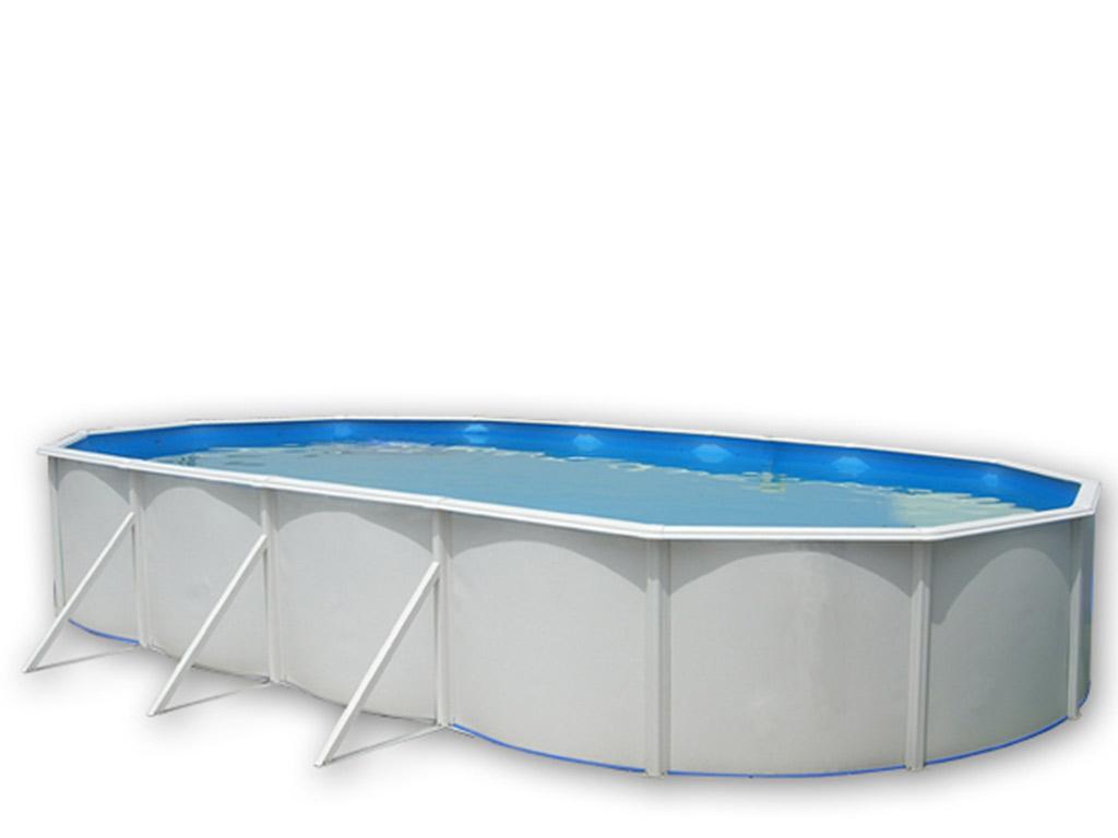 Kit piscine hors sol acier toi magnum ovalada ovale x x laqu blanc sur - Destockage piscine hors sol acier ...