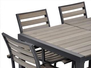 Salon De Jardin Aluminium Et Composite. Amazing Table De Jardin ...