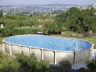 Kit piscine hors sol r sine vogue summum ovale x for Piscine hors sol resine zodiac