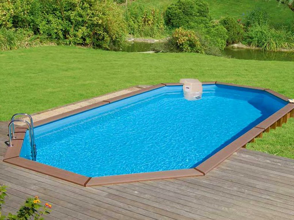 Kit piscine bois sunbay sydney ovale x x for Piscine de jardin gonflable