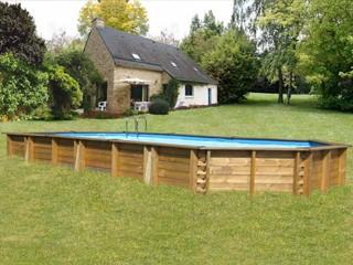 Kit piscine bois sunbay cuba octo recto x x sur march - Piscine bois 6 x 4 ...