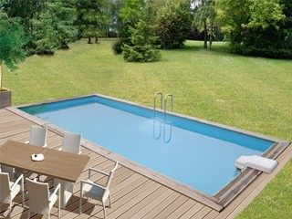 piscine en kit bois rectangulaire