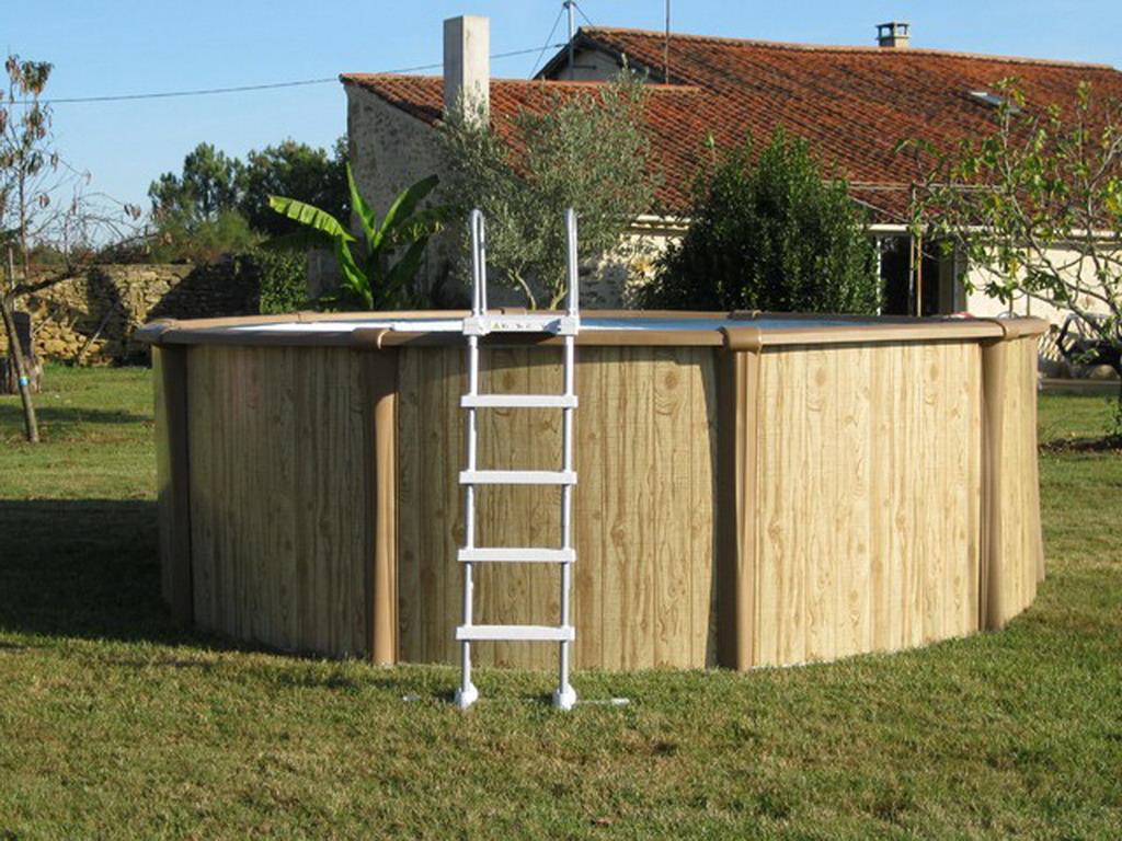 Kit piscine hors sol acier et r sine sunbay freedom ronde for Piscine hors sol resine