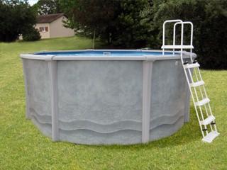 Kit piscine hors sol acier et r sine sunbay maya ronde x sur march - Piscine resine hors sol ...