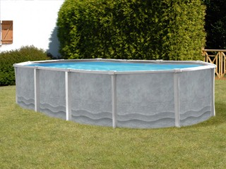 kit piscine hors sol acier et r sine sunbay maya ovale 7. Black Bedroom Furniture Sets. Home Design Ideas