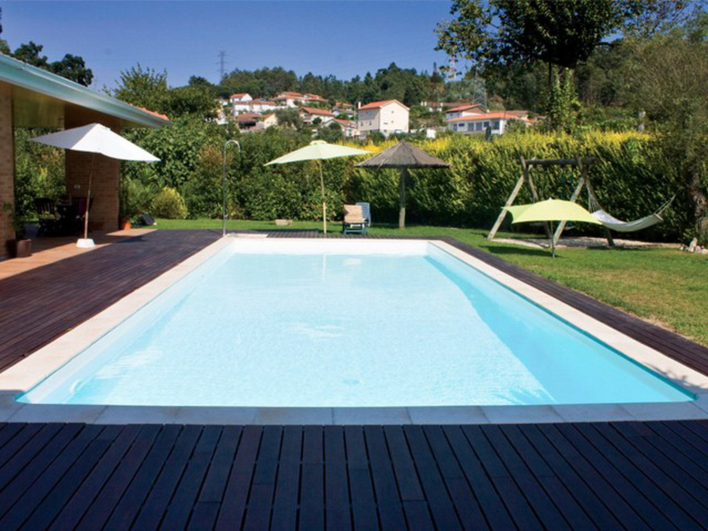 Piscine enterr e acier sunkit rectangulaire fond plat 5 for Piscine acier octogonale