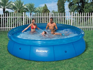 Piscine hors sol autoportante bestway fast set deluxe for Piscine bestway 3 66