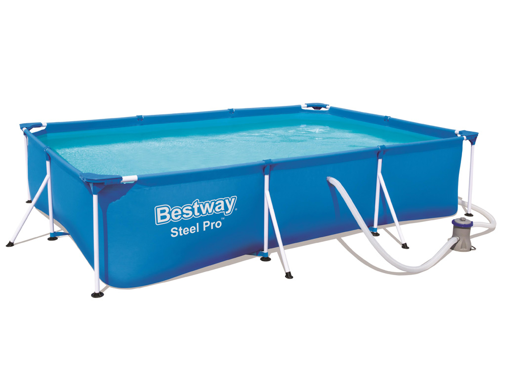 Piscine hors sol tubulaire bestway deluxe splash frame for Piscine rectangulaire bestway