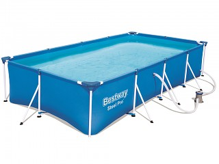 Bestway - Piscine hors-sol tubulaire Bestway FAMILY SPLASH FRAME POOL rectangulaire 400x211x81cm