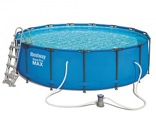 Piscine hors sol tubulaire bestway steel pro super deluxe for Piscine tubulaire 1 22