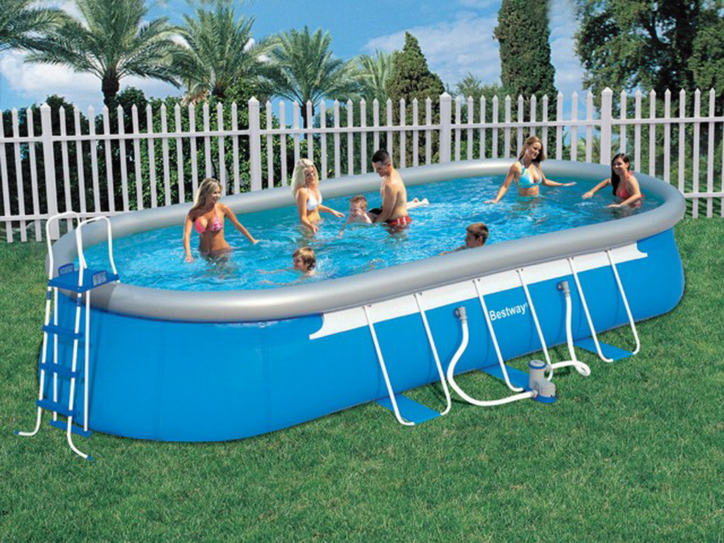 Piscine hors sol autoportante bestway steel pro super for Piscine tubulaire ovale intex