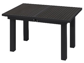 table de jardin en aluminium et composite 180cm x 100cm x 72cm coloris capuccino sur. Black Bedroom Furniture Sets. Home Design Ideas