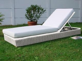 lit de piscine acier et r sine tress e 200cm x 75cm x 25cm coloris blanc sur march. Black Bedroom Furniture Sets. Home Design Ideas