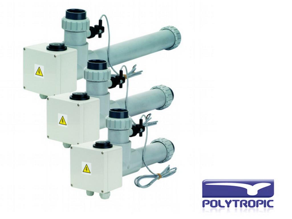 R chauffeur lectrique polytropic eov ti12 tri 12kw pour for Rechauffeur electrique pour piscine