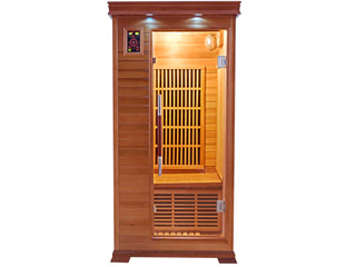 Sauna infrarouge cabine 1 place LUXE puissance 1330W