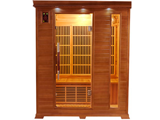 France Sauna - Sauna infrarouge cabine 3 places LUXE puissance 2045W