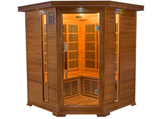 Sauna infrarouge cabine 3-4 places LUXE puissance 2220W