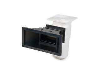 Skimmer aquareva sl119pn pour piscine enterr e panneaux ou liner coloris noir sur - Liner noir pour piscine ...
