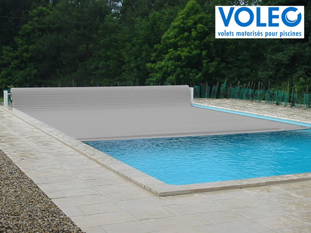 Couverture piscine automatique horssol voleo overcover for Piscine hors sol composite gris