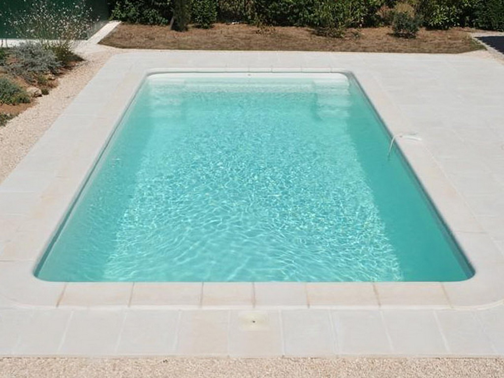 Piscine enterr e coque cancun classic coloris blanc sans for Piscine coque blanche