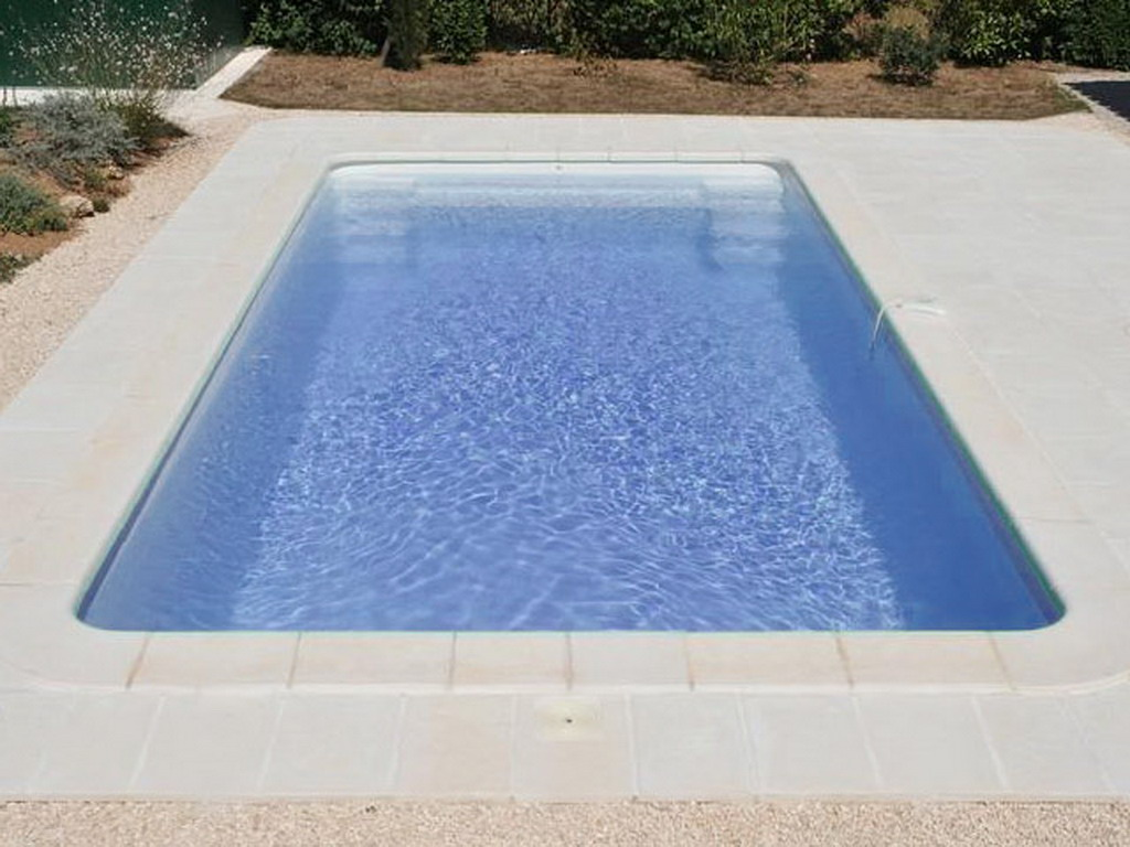 Piscine enterr e coque cancun classic coloris bleu sans for Piscine enterree coque