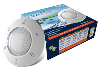 SeaMaid - Projecteur plat Seamaid eclairage couleur 270 LED 400 lumen 18W piscine privee