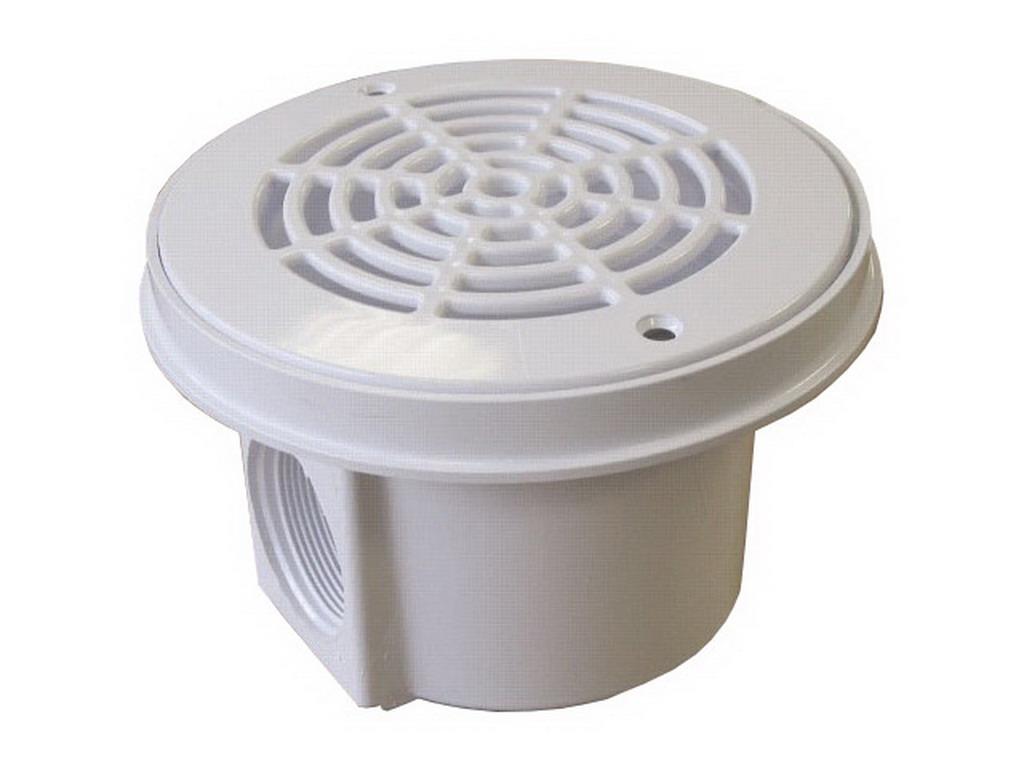 bonde de fond hayward luxe 1 pouce 1 2 visser pour piscine b ton coloris blanc sur. Black Bedroom Furniture Sets. Home Design Ideas