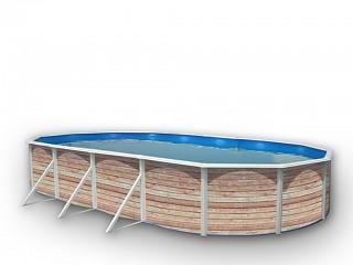 Kit piscine hors sol acier toi pinus ovale x x 1 for Piscine hors sol 3 66 x 1 22