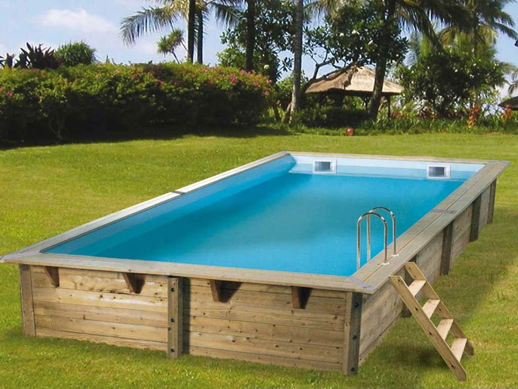Kit piscine bois nortland ubbink linea rectangulaire for Liner piscine 3 50 x1 20