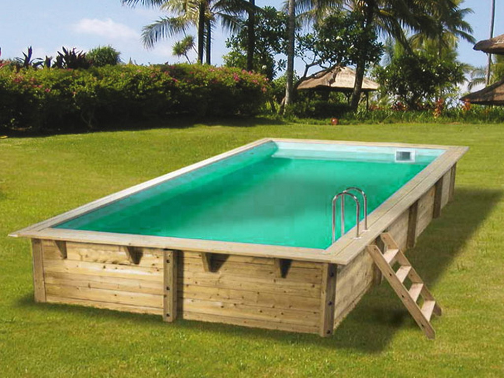 Kit piscine bois nortland ubbink azura rectangulaire for Prix piscine 6 x 3