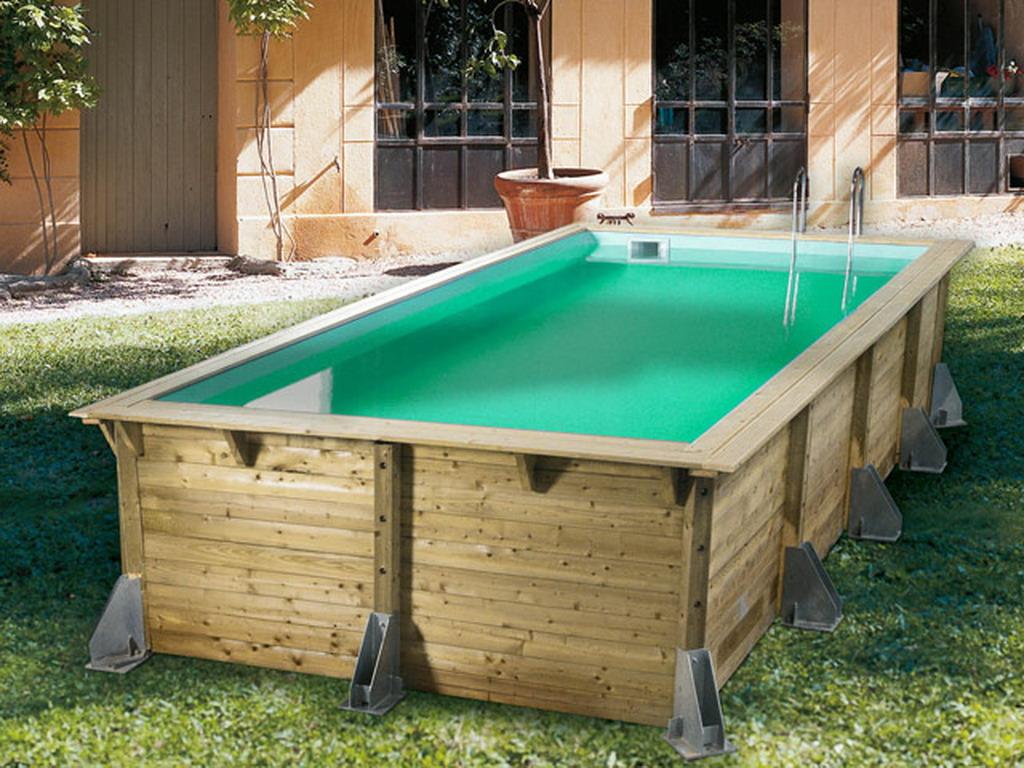 Kit piscine bois nortland ubbink azura rectangulaire 350 x Piscine en bois prix