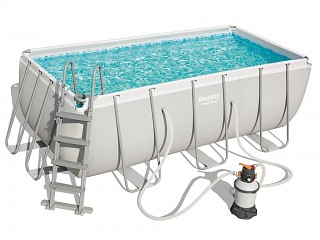 Bestway - Kit piscine tubulaire Bestway POWER STEEL FRAME POOL rectangulaire 412x201x122cm a sable