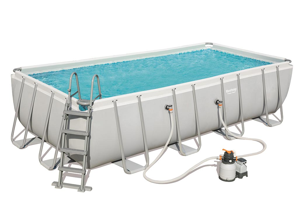Kit piscine tubulaire bestway steel pro frame for Piscine rectangulaire bestway
