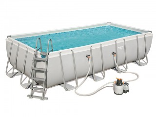 Bestway - Kit piscine tubulaire Bestway POWER STEEL FRAME POOL rectangulaire 549 x 274 x 122cm filtration a sable