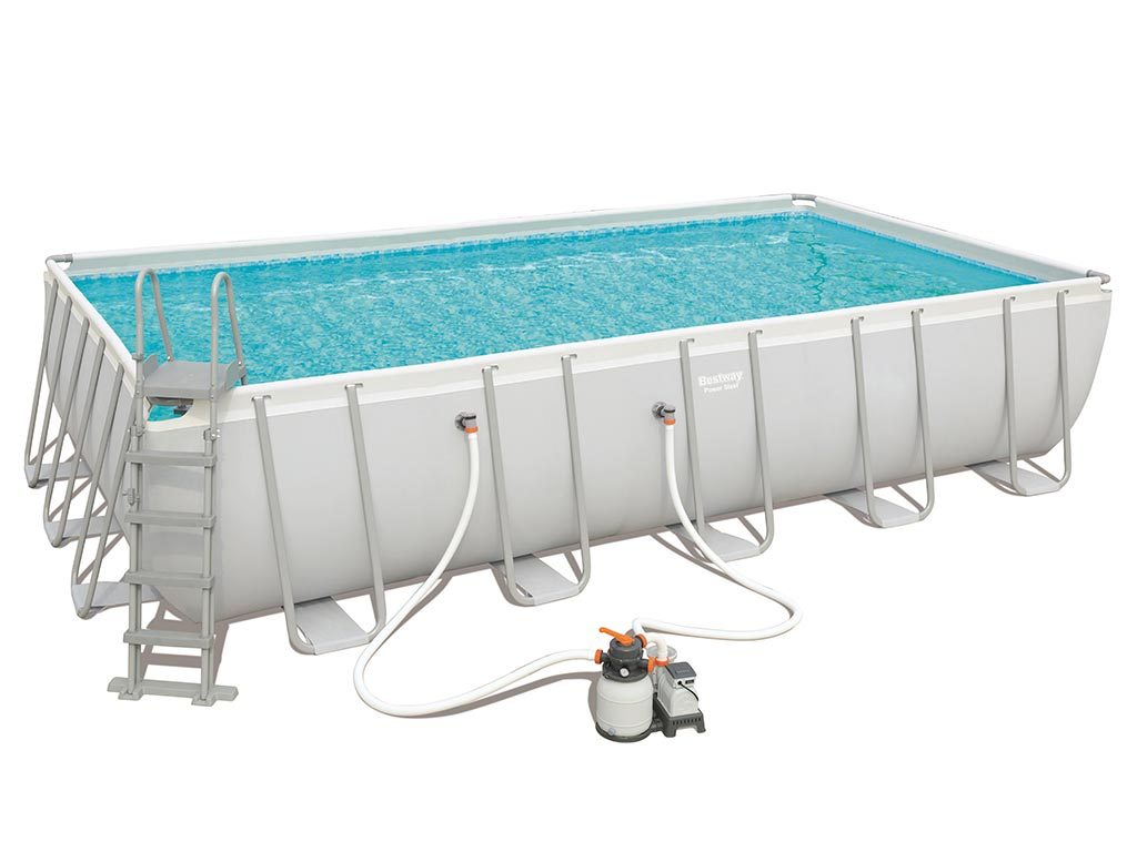 Kit Piscine Tubulaire Bestway Steel Pro Frame Rectangulaire  X