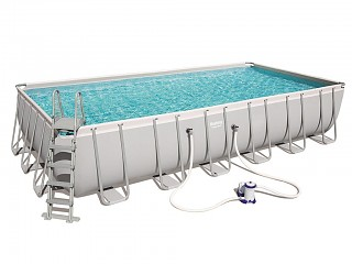 Kit piscine tubulaire Bestway POWER STEEL FRAME POOL rectangulaire 732x366x132cm