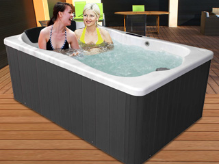 spa transportable spareve rectangulaire 2 places jupe. Black Bedroom Furniture Sets. Home Design Ideas