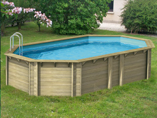 Piscine hors sol en bois march delapiscine for Projecteur piscine bois