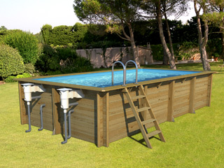 Piscine hors-sol bois ProSwell WEVA RECTANGLE 6x3 H133cm