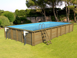 piscine hors sol bois proswell weva rectangle 10x5 h146cm sur march